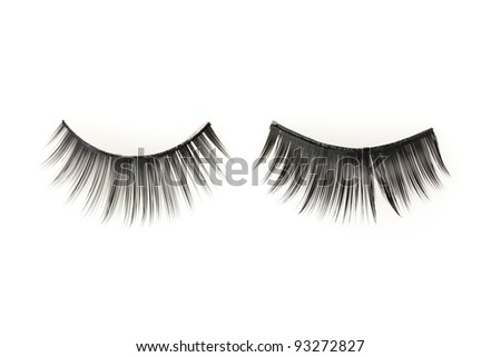 False lashes, isolated on white - stock photo