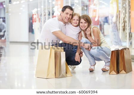 Families with a child in the store