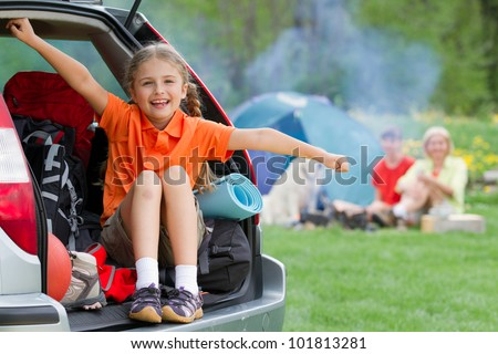 Family adventure - family on summer camp