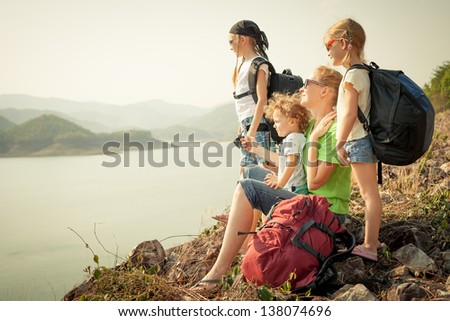 Family Afternoon on the Lake Shore