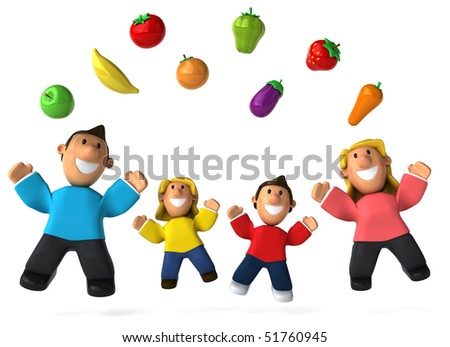 Family and vegetables