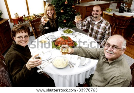 family at holiday dinner