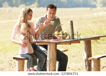 Family at picnic in nature