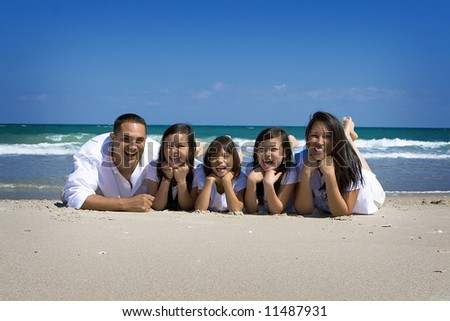 Family at the sea