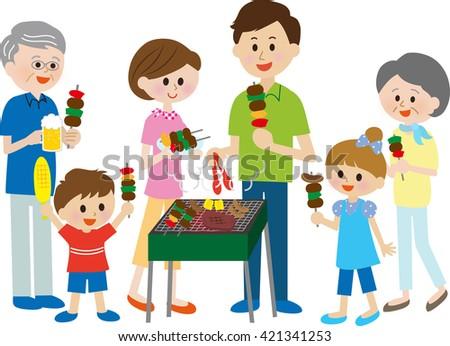 family, BBQ