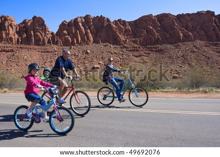 Family Bicycle Ride in Southwestern U.S.