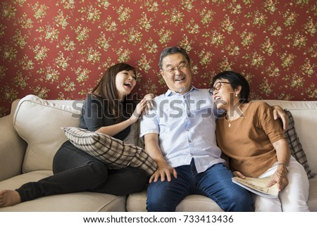 Family Bonding Casual Affection Relationship #733413436