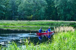 Family Canoeing in Kejimkujik National Park Digby Nova Scotia Canada
