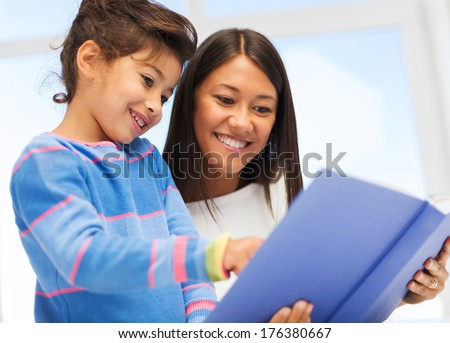 family children education school and happy people concept mother and