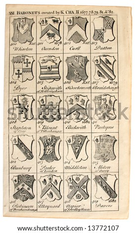 Family Coats-of-Arms of the period 1677-82, printed 1700s.
