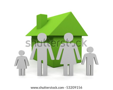Family. 3d image isolated on white background.