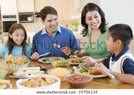 Family Enjoying meal mealtime Together