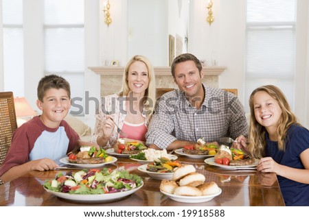 Family Enjoying meal,mealtime Together - stock photo