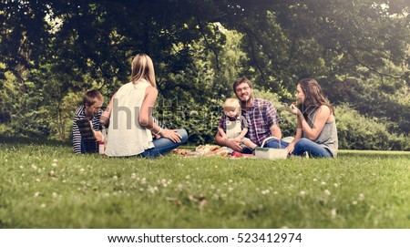 Family Generations Picnic Togetherness Relaxation