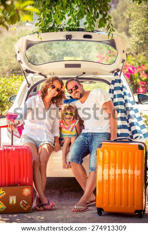 family going on summer vacation....