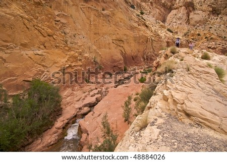 Family hiking  in Capitol Reef National Park #48884026