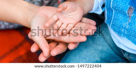 Family holding hands together closeup. Happy together.Gesture sign of support and love, unity togetherness relative people concept. care concept