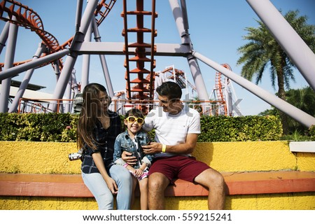 Family Holiday Vacation Amusement Park Togetherness