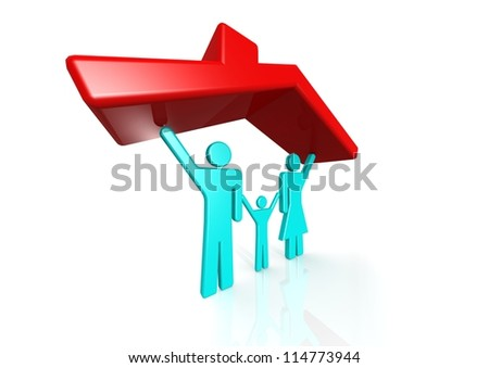 Family house - stock photo