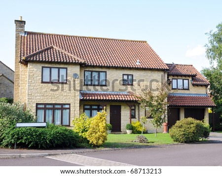 Family House on a Typical English Suburban Residential Estate