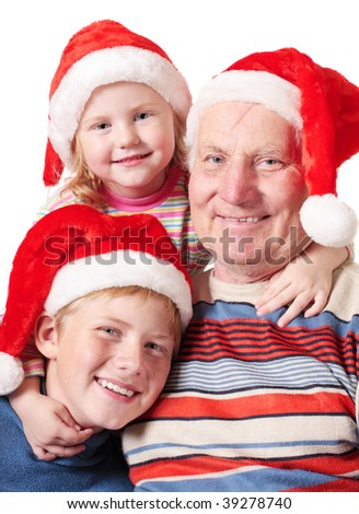 family in red hats