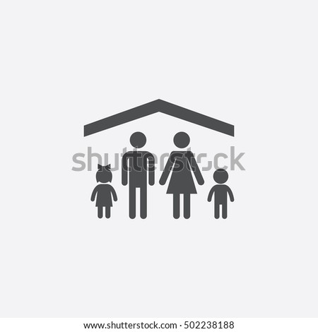 family insurance icon, on white background