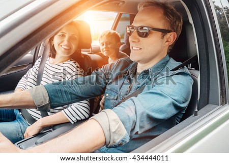Family into the car