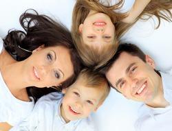 Family lying down