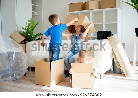 Shutterstock Family moving to a new home