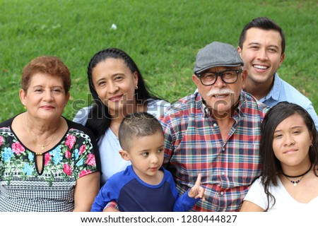 Family of immigrants in the USA Foto stock ©
