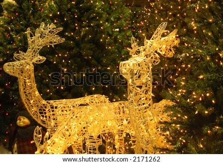 christmas lawn reindeer