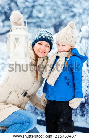 Winter and snow, winter family fun