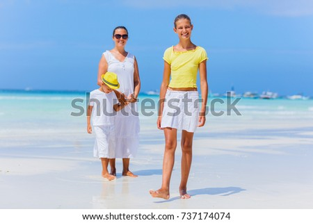 With Mother in the beach nak