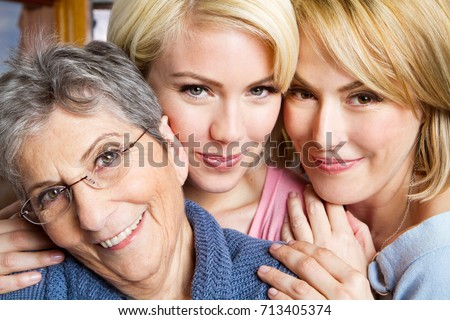 Family of three generation of women. #713405374