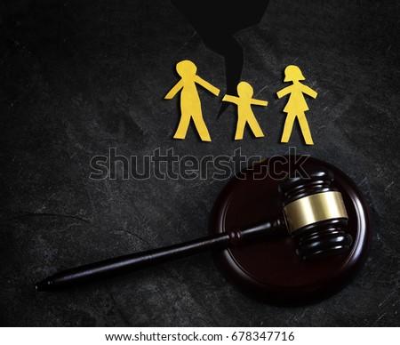 Family of three split apart, and gavel