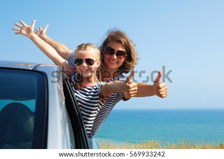 Family on vacation. Summer holiday and car travel concept #569933242