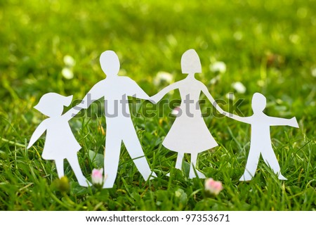 Family paper on grass