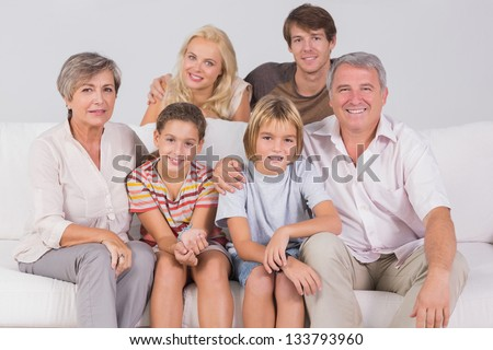 Family Portrait in sitting room