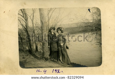 Family portrait,mother and daughter,Russia, 16.04.1912.
