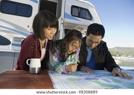 Family Road Trip - stock photo