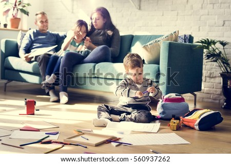 Family Spend Time Happiness Holiday Togetherness