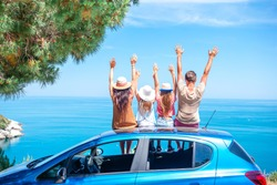 Family summer vacation. European holiday and car travel concept