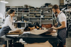 Family tailors having leather industry