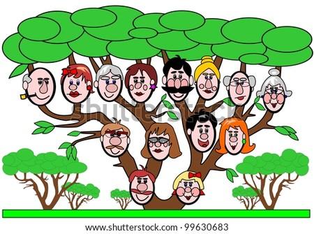 Family Tree Cartoon Images Family Tree Cartoon