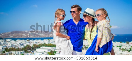 Family vacation on Mykonos Island, in Greece #531863314