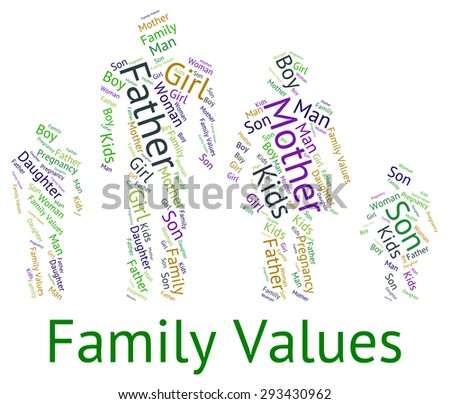 Family Values Indicating Blood Relative And Standards