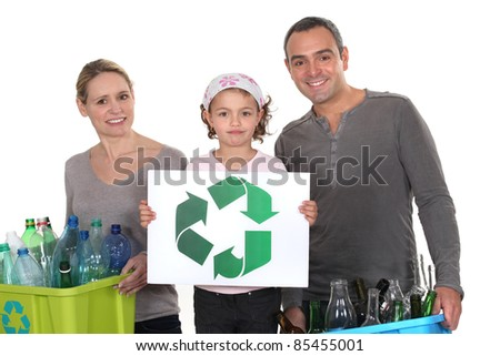 family waste sorting