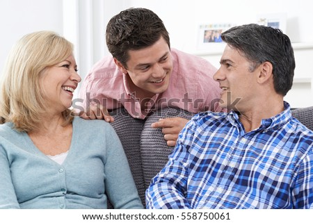 Family With Adult Son At Home