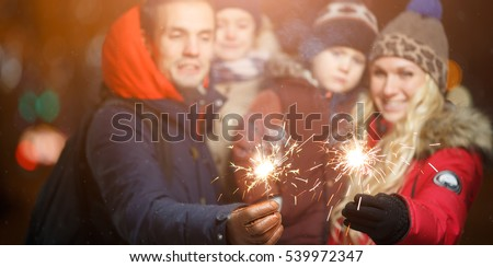 Family with children in park #539972347
