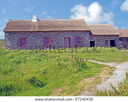 Famine farm on the Dingle Peninsula, County Kerry in the west coast of Ireland